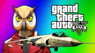 getlinkyoutube.com-GTA 5 Online Funny Moments - Hydra Jet Fun, Delirious's Battle Gear, Owl Tree!