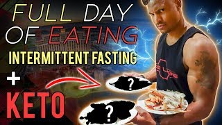 FULL DAY OF EATING! Keto & Intermittent Fasting While Traveling