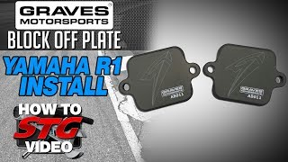 getlinkyoutube.com-Graves Smog Block Off Plate Install on a 2015 Yamaha YZF-R1 from SportbikeTrackGear.com