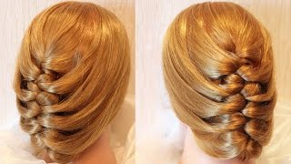 "getlinkyoutube.com-Коса ""плетёнка"" - наизнанку - Hairstyles by REM"