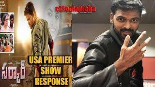 Sarkar Movie Telugu USA Premier Response