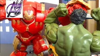 getlinkyoutube.com-Iron man Stop Motion-Hulk vs Hulkbuster Stop Motion [Age of Ultron Aftermath]