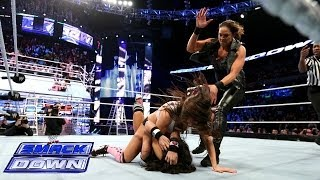 getlinkyoutube.com-The Bella Twins vs. AJ Lee & Tamina Snuka: SmackDown, Dec. 13, 2013