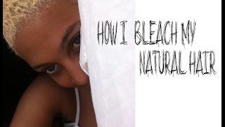 getlinkyoutube.com-Natural Hair Tutorial : PLATINUM Blonde 4c TWA (how i bleach my hair)