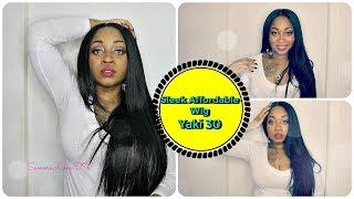 getlinkyoutube.com-Watch Me Slay This Wig From Start To Finish   Sleek Straight Long Hair - Sensationnel Yaki 30