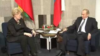 getlinkyoutube.com-Встреча Путина и Грибаускайте - Puting & Grybauskaite meeting