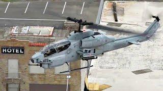 getlinkyoutube.com-Marines AH-1 SuperCobra & UH-1Y Huey Helicopters Land In Downtown Phoenix