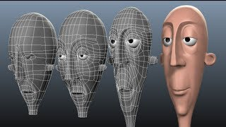 Maya: Cartoon Head Topology - Hack 'n' Slash (1/2)