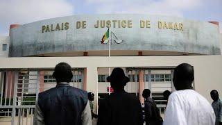 Senegal , Sit-in des travailleurs de la justice