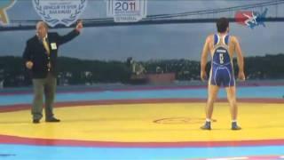 getlinkyoutube.com-2011 Worlds Freestyle 74kg - Jordan Burroughs (USA) vs. Denis Tsargush (RUS)