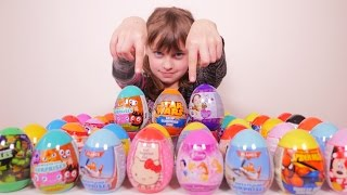 getlinkyoutube.com-[COLIS] 40 oeufs avec Violetta, Star Wars, Moshi Monsters - Unboxing surprise eggs package