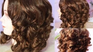 getlinkyoutube.com-No Heat Paper Plate Curls -Heatless Voluminous Curls