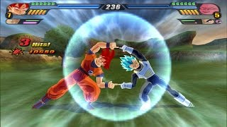 Fusion Vegeta blue SSJ God and Goku Red Super Saiyan God into Gogeta (DBZ Tenkaichi 3 mod)