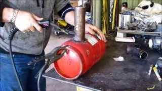 getlinkyoutube.com-How to build a Waste oil Burner for heating, scrapping or aluminium melting