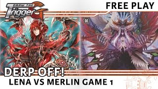 Derp Off Game 1: Lena vs Merlin - Cardfight Vanguard