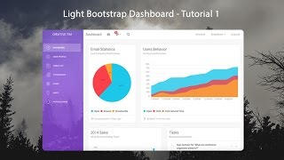 How to create a Responsive Admin Template using Light Bootstrap Dashboard - 1/3