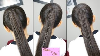 Peinados faciles y rapidos: Cola con todo el cabello (3 Opciones!!) | Chikas Chic