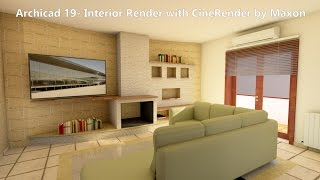 getlinkyoutube.com-Archicad 19: Interior Render with CineRender by Maxon