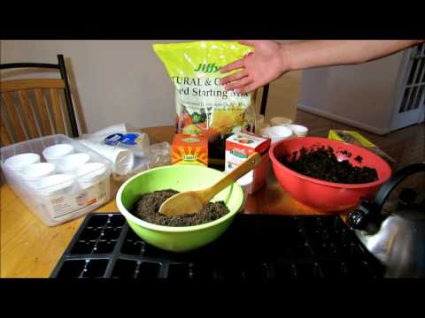 Starting Vegetable Seeds Indoors: Starting Trays & Mix, Fertilizer & Thumb Packing  - KIS Series (2)