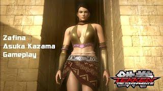 getlinkyoutube.com-Tekken Tag Tournament 2:Zafina/Asuka Kazama Gameplay