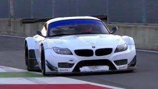 getlinkyoutube.com-2 x BMW Z4 GT3 Pure V8 Engine Sound