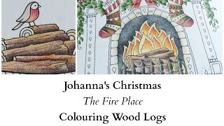 getlinkyoutube.com-Johanna's Christmas - The Fire Place - Colouring Wood Logs