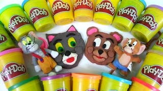 getlinkyoutube.com-Play Doh How To Make Tom & Jerry Playdough