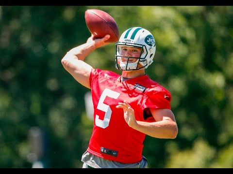 What must Christian Hackenberg show Jets in OTAs?