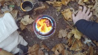 getlinkyoutube.com-Camping Wood Gasification stove cook kit overnight trip