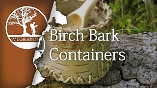 getlinkyoutube.com-Bushcraft Containers: Silver Birch, Pine Pitch & Spruce Cord