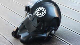 getlinkyoutube.com-Star Wars, rogue one,  making Tie-Fighter Helmet, Papercraft / Pepakura selber bauen, 66target