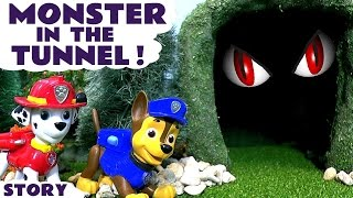 Paw Patrol Full Episode Monster In The Tunnel Nickelodeon toys for kids stop motion toy story TT4U