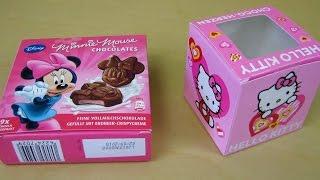 getlinkyoutube.com-Hello Kitty Chocolate | Disney Minnie Mouse Chocolate