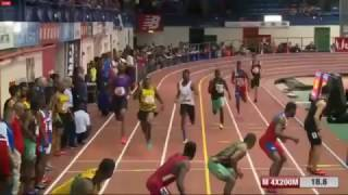 getlinkyoutube.com-Jamaica Wins Mens 4x200m indoor Relays Final