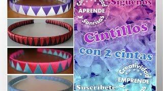 getlinkyoutube.com-CINTILLO (Diadema) 2 CINTAS EN RASO Con:  Creatividad & Sonrisas