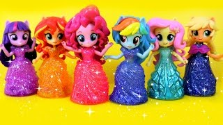 getlinkyoutube.com-Equestria Girls Princess Toys Surprises! My Little Pony Switch Disney Princess Magiclip Dress Kids