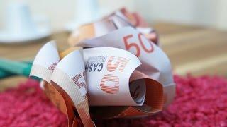 getlinkyoutube.com-Geldscheine falten ROSE 🌹 Geldgeschenk zur HOCHZEIT, DIY Origami Tutorial Deutsch #TrauDirWasZu