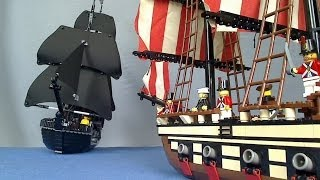 getlinkyoutube.com-Lego Pirate Sea Battle - Lego Police Chase Part 3