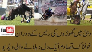 DANGEROUS HORSE RACE ACCIDENT IN DUBAI BY TIPS AND TRICKS  YouTube