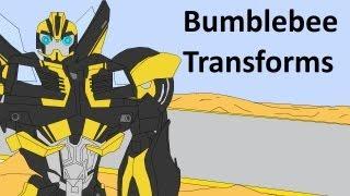 getlinkyoutube.com-Transformers Prime: Beast Hunters Bumblebee Transforms