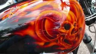 getlinkyoutube.com-Airbrushed Realistic Fire Skull Harley, www.dirtdesignsgraphic.com