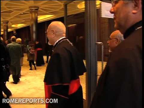 The new cardinals receive guests at the Vatican for congratulatory visits