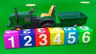 Cartoni Animati per Bambini - macchine per bambini al parco giochi - un trattore