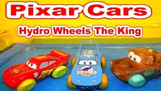getlinkyoutube.com-Disney Pixar Cars Unboxing Hydro Wheels The King with Lightning McQueen Mater and more