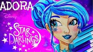 Disney STAR DARLINGS Adora. Speed Drawing and Art Decoration of Doll Character
