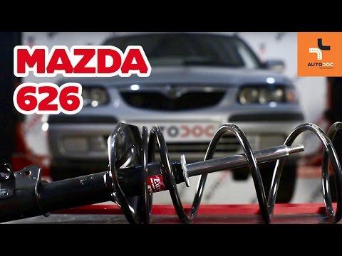Как да сменим предна пружина за ходовата част, предни амортисьори на MAZDA 626 ИНСТРУКЦИЯ   AUTODOC