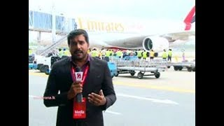 First commercial A380 jumbo aircraft lands in Sri Lanka