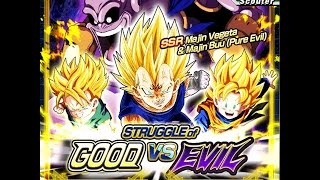 getlinkyoutube.com-Struggle of Good vs Evil: Majin Vegeta & Evil Buu Summoning Event: DBZ Dokkan Battle