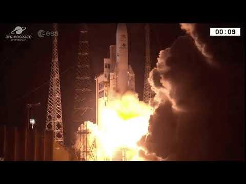 Запуск ракеты Ariane 5 с миссией к Меркурию.