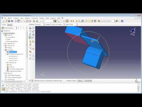 "Modeling Contact using Contact Pairs method (1 of 2) (Demo for book ""Python Scripts for Abaqus)"